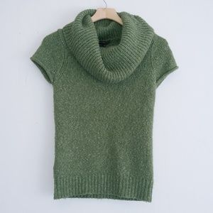 BCBGMaxAzria green cowl neck t-shirt sweater